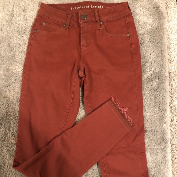 Pants - Articles of society jeans in rust